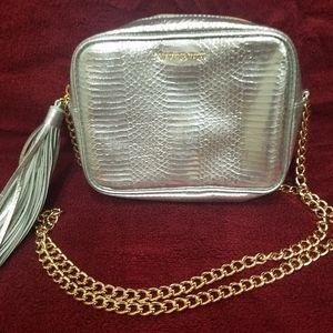 Victoria Secret Silver Purse with Tassel
